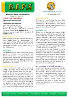 Newsletter – 2019 Issue 37 – 12th November – 2019