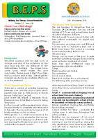 Newsletter – 2019 Issue 39 – 26th November – 2019