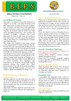 Newsletter – 2020 Issue 15 – 2nd June – 2020