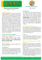 Newsletter – 2020 Issue 18 – 16th June – 2020