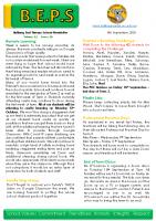 Newsletter – 2020 Issue 29 – 8th September – 2020