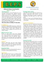 Newsletter – 2020 Issue 35 – 2nd November – 2020