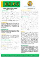 Newsletter – 2020 Issue 36 – 10th Novmber – 2020
