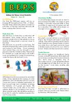 Newsletter – 2020 Issue 39 – 1st December – 2020