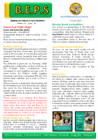 Newsletter – 2021 Issue 16 – 1st June – 2021