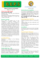 Newsletter – 2021 Issue 17 – 8th June – 2021