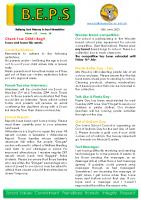 Newsletter – 2021 Issue 18 -15th June – 2021