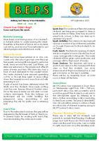 Newsletter – 2021 Issue 29 -14th September – 2021